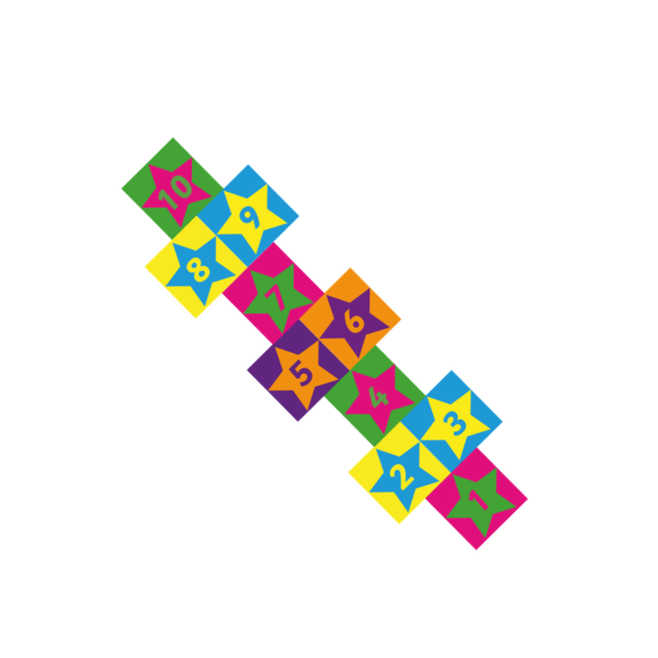 Playground-Marking-Star-Twin-Hopscotch-400mm