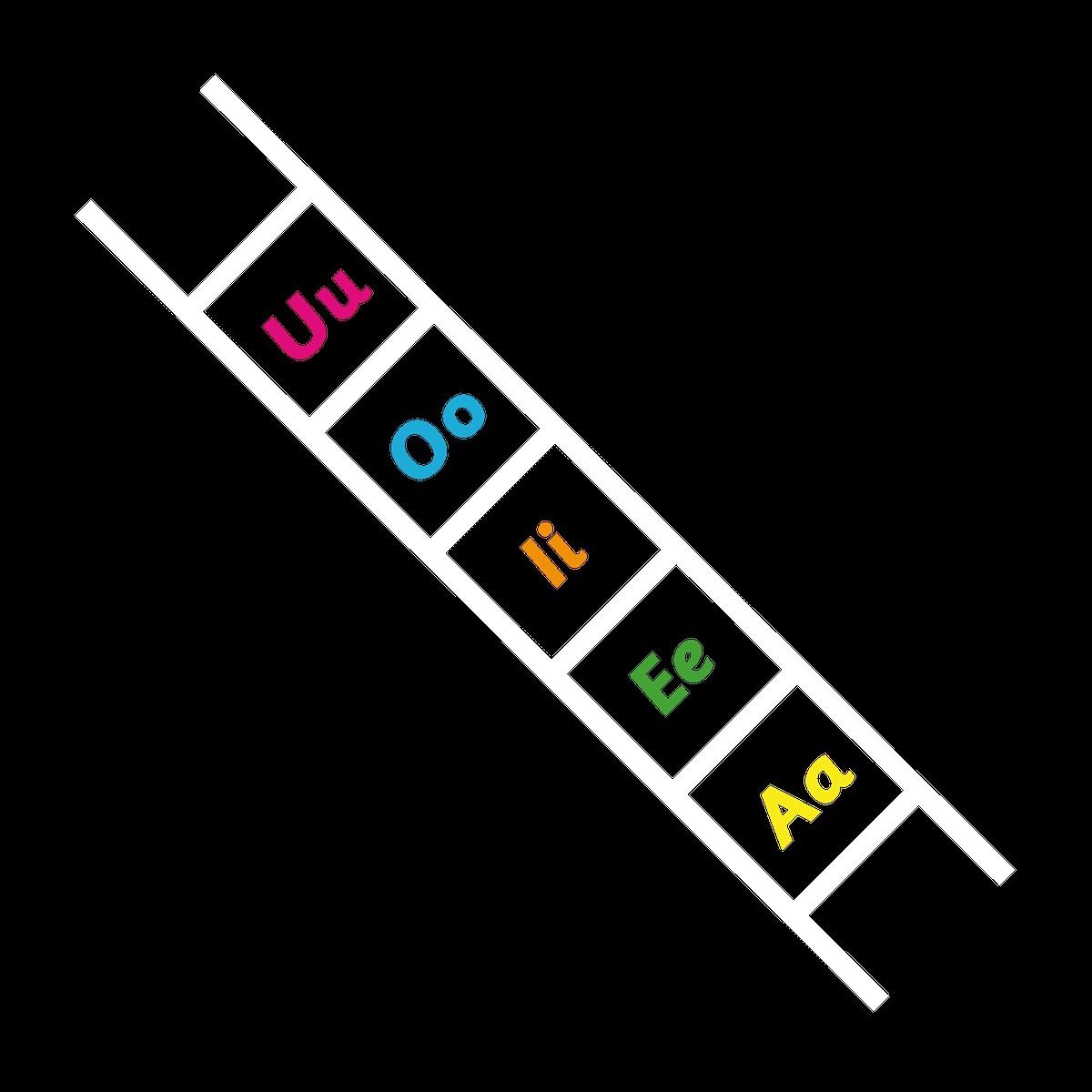 Playground Marking Vowel Ladder Outline