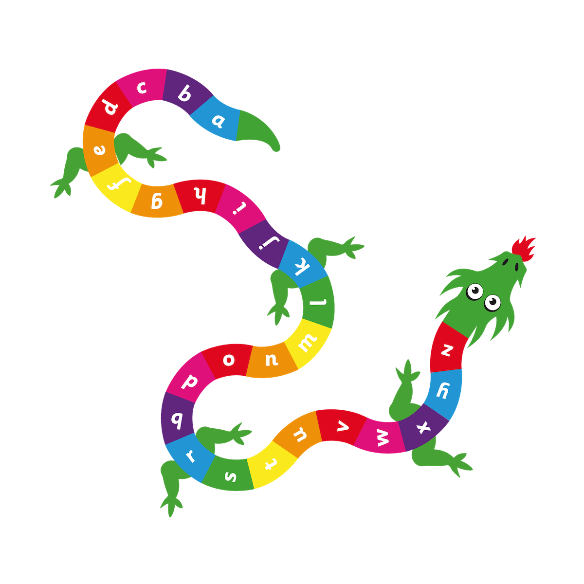Playground Marking a-z Dragon