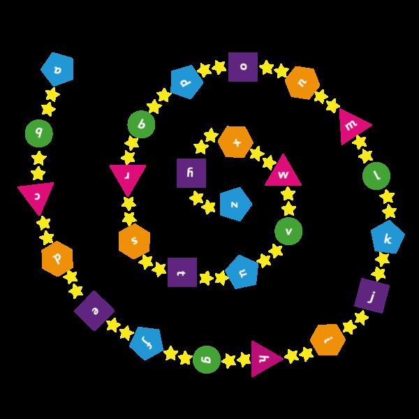 Playground Marking a-z Spiral