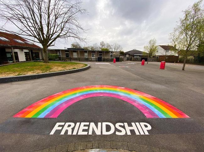 Rayne-Primary-School-Friendship-Rainbow-Playground-Marking