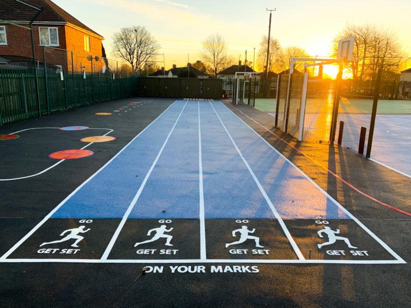 Running Track Playground Marking