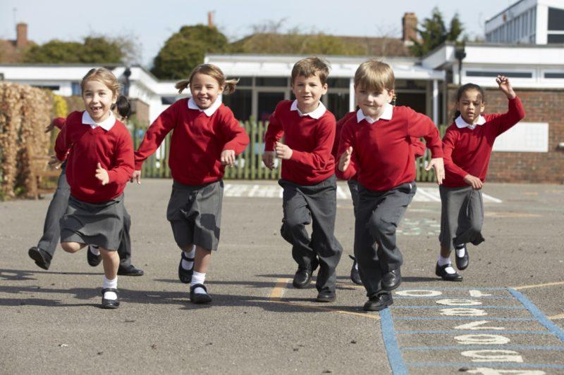 School-children-running-in-playground
