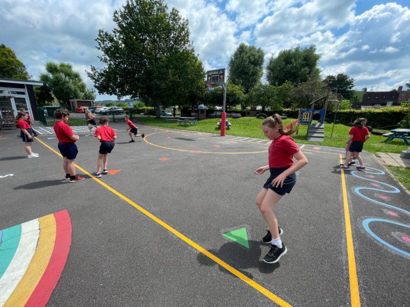Singleton-CE-Primary-School-Bleep-Test-Playground-Marking