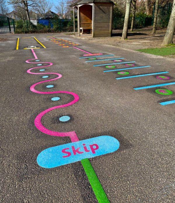 Skip-Station-Playground-Marking
