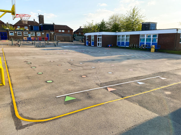 St-Maria-Goretti-Primary-School-Bleep-Test-Playground-Marking
