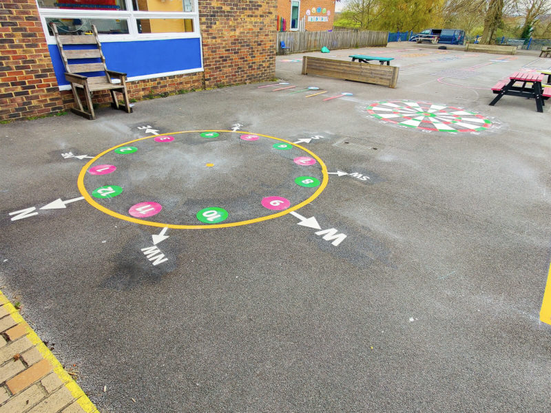Tadley-Primary-School-Compass-Clock-Playground-Marking