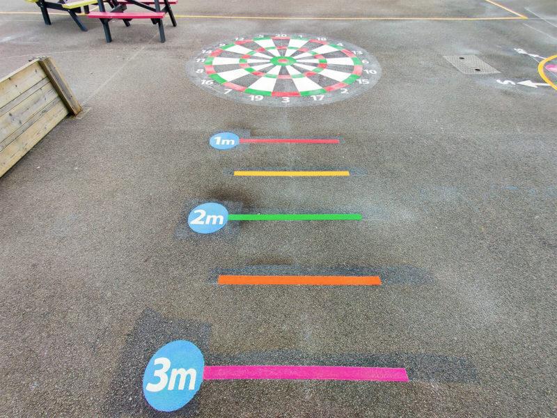 Tadley-Primary-School-Dartboard-Playground-Marking
