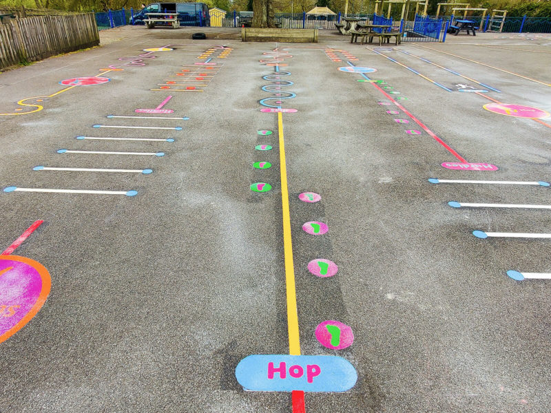 Tadley-Primary-School-Deluxe-Fun-Active-Trail-Playground-Marking