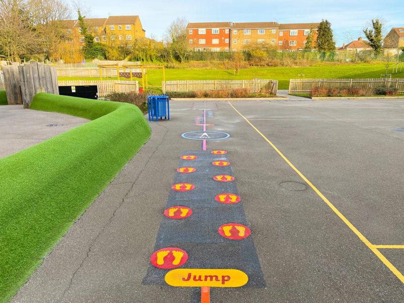 Weald-Rise-Primary-School-Jump-Station-Playground-Marking-Middlesex