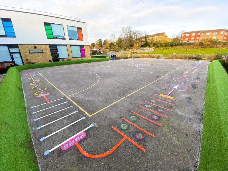 Weald-Rise-Primary-School-Playground-Marking-Middlesex
