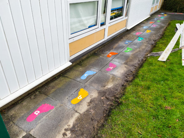 Playground Marking Alphabet Footprints