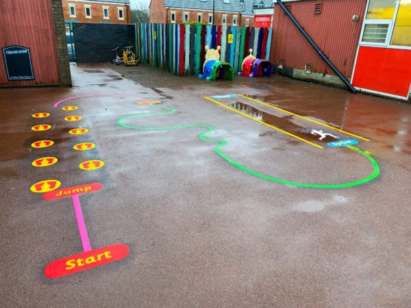 White-Ash-Primary-School-Mini-Trail-Playground-Marking