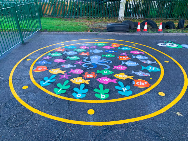 Whitgreave-Primary-School-Under-the-Sea-Phonics-Playground-Marking-West-Midlands
