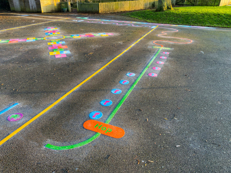 Wymondham-C-of-E-Primary-School-Hop-Station-Playground-Marking-Leicestershire